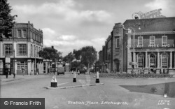 Letchworth, Station Place c.1950, Letchworth Garden City