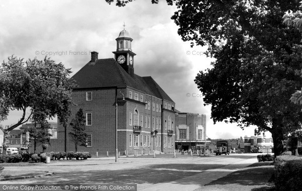 Photo of Letchworth, The Council Offices c.1950
