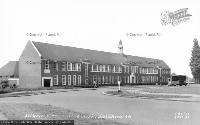 Photo of Letchworth, The Mixed Grammar School c.1955