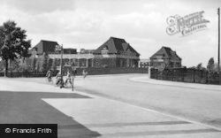 Letchworth, The Spirella Factory And Neville's Bridge c.1950