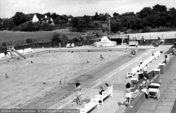 Photo of Letchworth, the Swimming Pool c1950