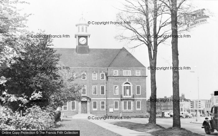 Photo of Letchworth, Town Hall c.1955