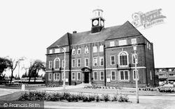 Letchworth, Town Hall c.1965, Letchworth Garden City