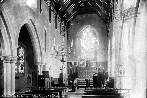 Photo of Letheringsett, The Church, Interior 1896