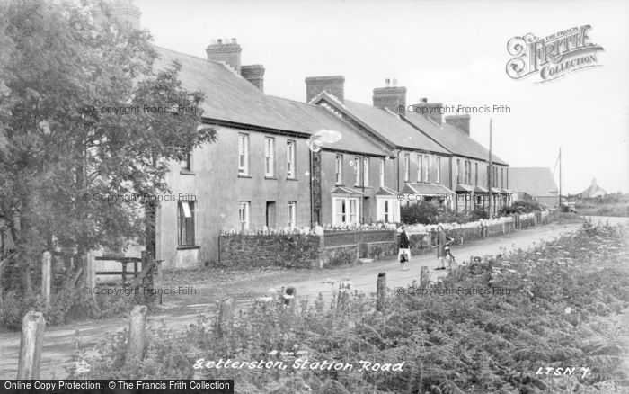Photo of Letterston, Station Road c.1955
