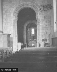 St Athernase Church Interior c.1955, Leuchars