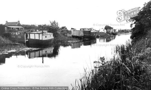 Photo of Leven, Houseboats c.1955
