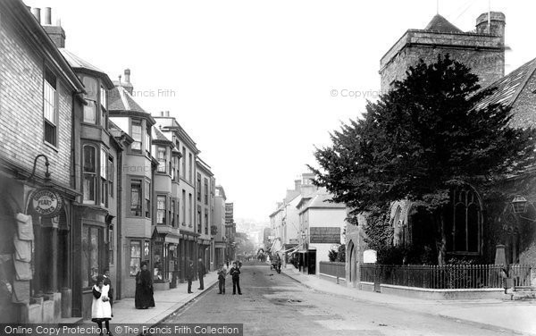 Photo of Lewes, Cliffe High Street 1894