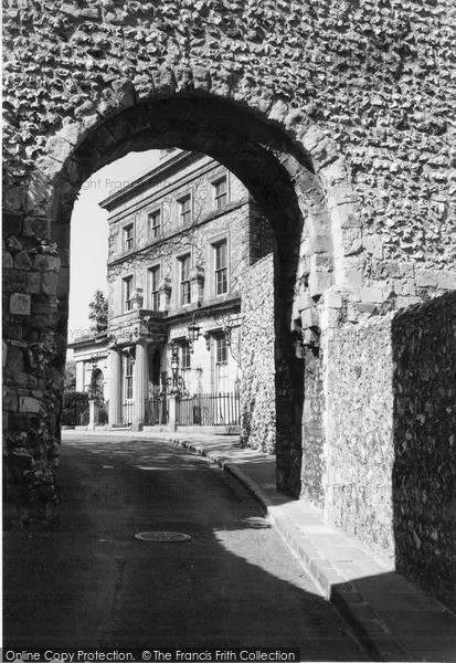 Photo of Lewes, Entrance To Castle c.1955