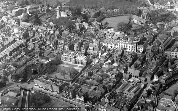Photo of Lewes, From The Air 1955