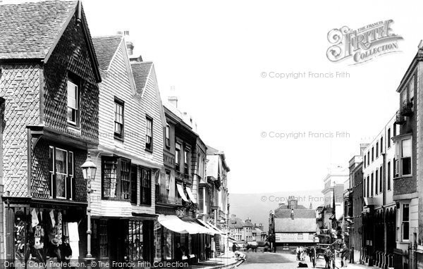 Photo of Lewes, High Street 1898