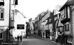 High Street And 15th Century House c.1960, Lewes