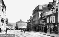 High Street And White Hart Hotel 1903, Lewes