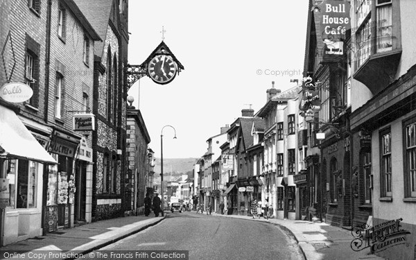 Photo of Lewes, High Street c.1955