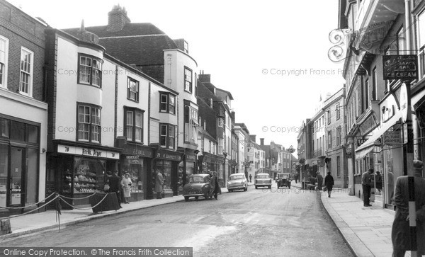 Photo of Lewes, High Street c.1960
