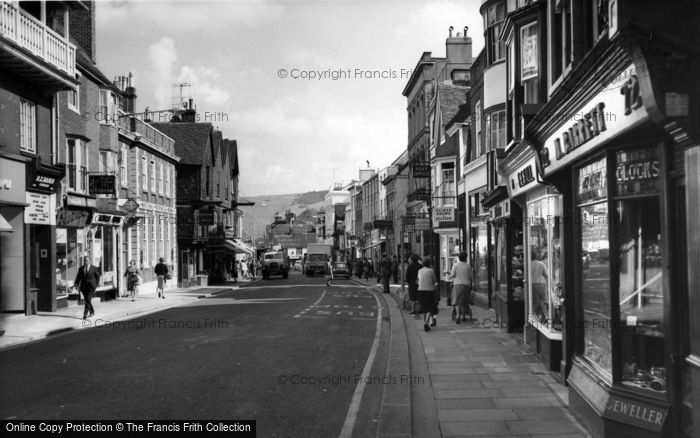 Photo of Lewes, High Street c.1965