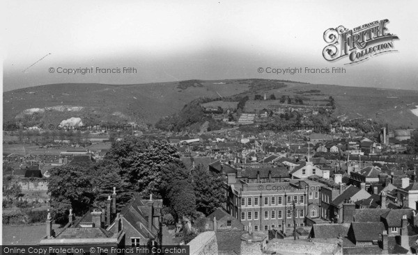 Photo of Lewes, Looking East From The Castle c.1955