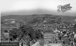 Lewes, Looking East From The Castle c.1955