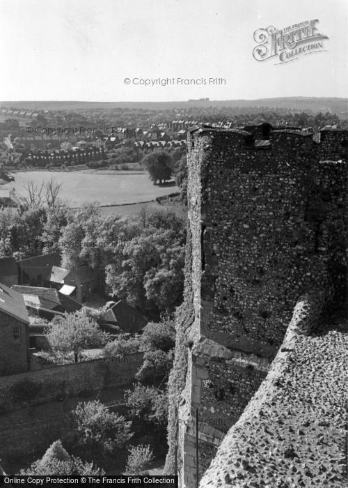 Photo of Lewes, Looking West From The Castle c.1955
