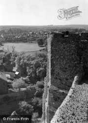 Lewes, Looking West From The Castle c.1955