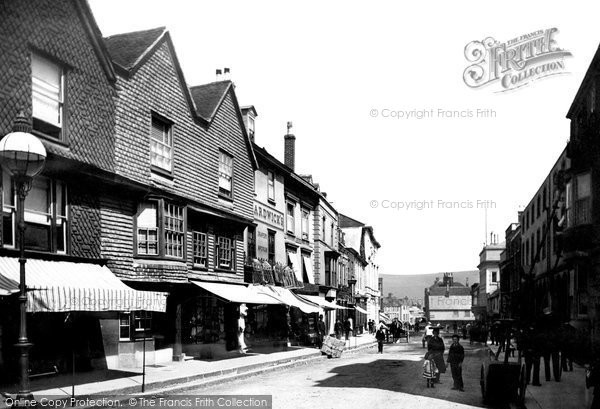 Photo of Lewes, Old Houses 1890