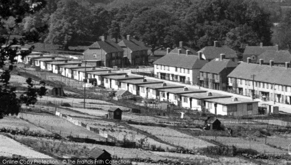 Photo of Lewes, Prefabs In Landport c.1950