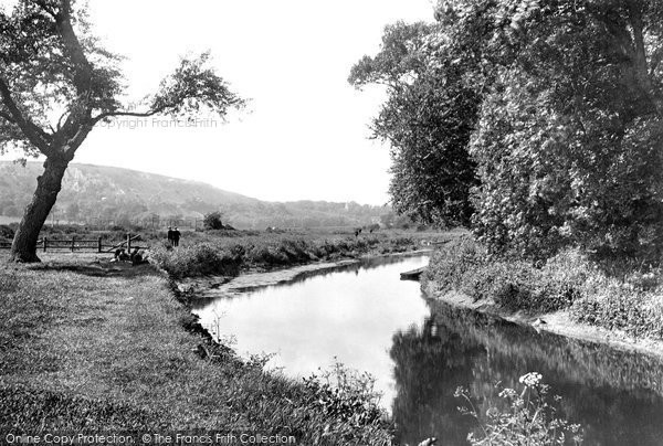 Photo of Lewes, River Ouse With Offham Church In The Distance 1921