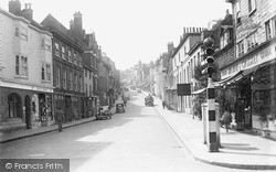 Lewes, School Hill c.1950