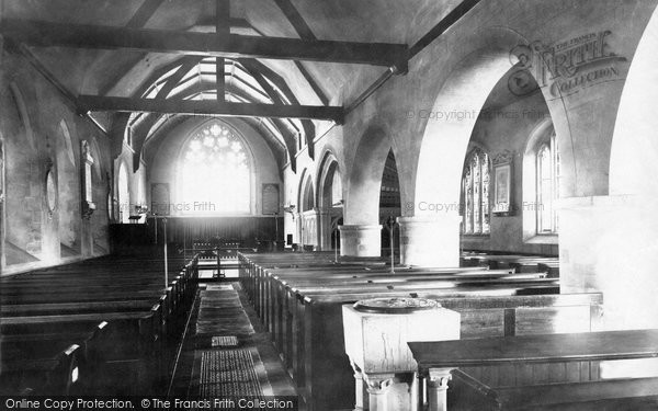 Photo of Lewes, Southover Church Interior 1890
