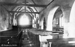 Lewes, Southover Church Interior 1890