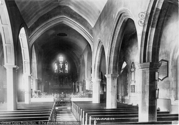 Photo of Lewes, St Michael's Church Interior 1898