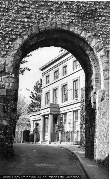 Photo of Lewes, The Norman Archway c.1955