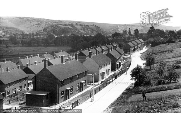 Photo of Lewes, View From New Housing Estate c.1950