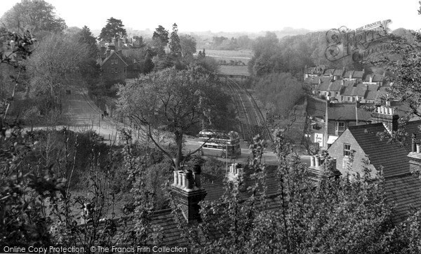 Photo of Lewes, View From Offham Road c.1955