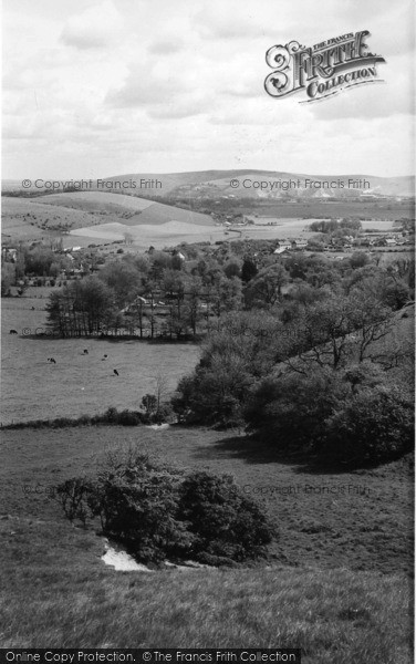Photo of Lewes, View From The Downs c.1960