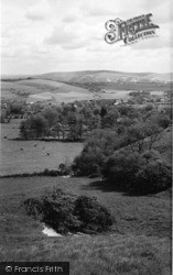 Lewes, View From The Downs c.1960