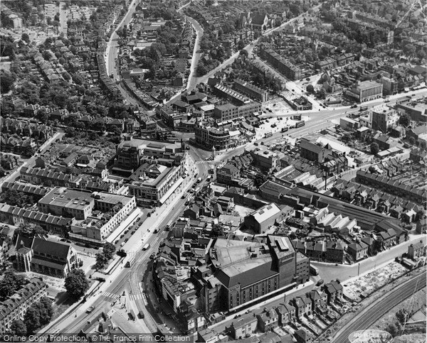 Photo of Lewisham, Aerial View c.1955