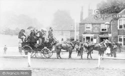 Bromley Coach, The George Inn, Rushey Green c.1870, Lewisham