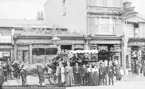 Photo of Lewisham, Carriage At The Plough And Harrow, Rushey Green c.1906