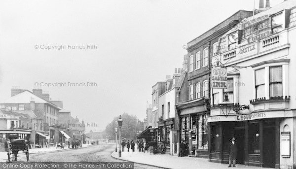 Photo of Lewisham, Old High Street And Old Castle Inn c.1900