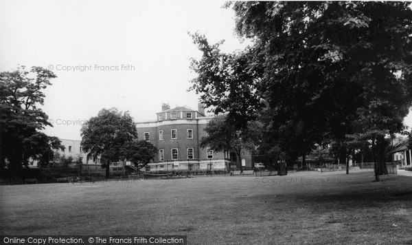 Photo of Lewisham, The Library From The Gardens, Lee Green c.1960