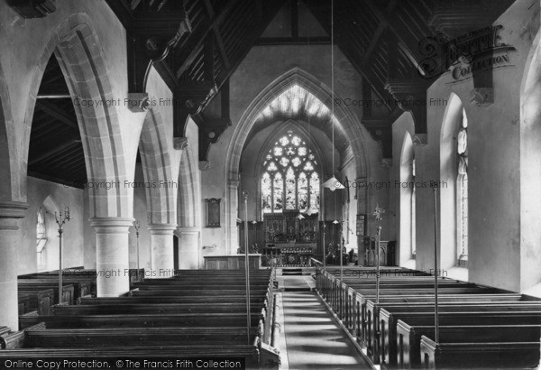 Photo of Leyburn, Church Interior 1923