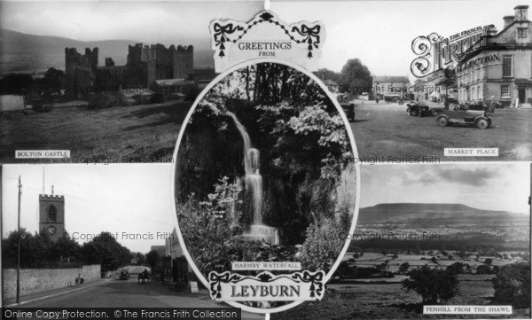 Photo of Leyburn, Composite c.1920