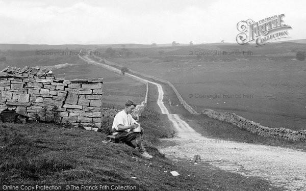 Photo of Leyburn, Man On Bellerby Moor 1924