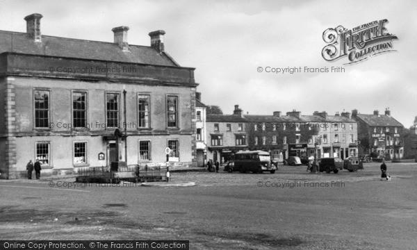 Photo of Leyburn, Market Place c.1954