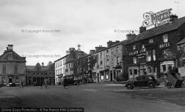Photo of Leyburn, Market Place c.1955