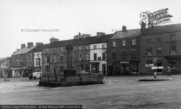 Photo of Leyburn, Market Place c.1955