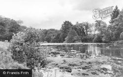 Leyburn, River Ure c.1955
