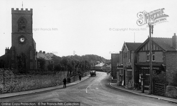 Photo of Leyburn, St Matthew's Church And Post Office c.1955