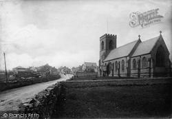 Leyburn, The Village And St Matthew's Church 1889